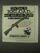 1997 Springfield Armory M1A Rifle Ad - Time to Reload