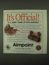 1997 Aimpoint Red Dot Sights Ad - It's Official
