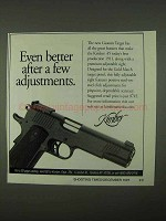 1997 Kimber Custom Target Pistol Ad - A Few Adjustments