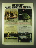 1974 Chevrolet Nova 6 Hatchback, Coupe and 3+3 Car Ad