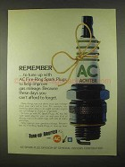 1974 AC Fire-Ring Spark Plugs Ad - Remember