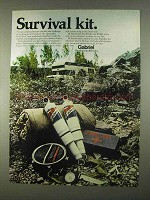 1974 Gabriel Hi Jackers Shocks Ad - Survival Kit