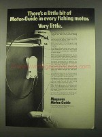 1974 Motor-Guide Magnum Motor Ad - There's a Little Bit