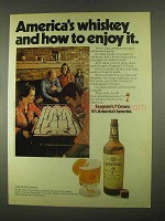 1974 Seagram's 7 Crown Whiskey Ad - How To Enjoy It
