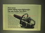 1974 Poulan XX Chainsaw Ad - Hottest Selling