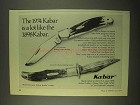 1974 Kabar Folding Hunter #1184 Knife Ad