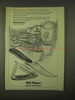 1974 Schrade Cutlery Old Timer Knives Ad