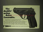 1974 Garcia Astra Constable Pistol Ad - Double-Action