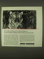 1974 Air-India Airline Ad - Himalayan Wildlife Tour