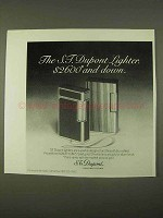 1974 S.T. Dupont Lighters Ad - $2600 and Down