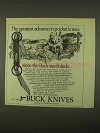 1974 Buck Knives Ad - Greatest Advance