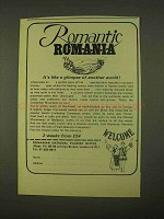1974 Romania Tourism Ad - Romantic Romania