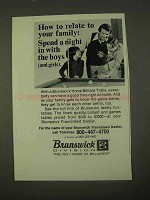 1974 Brunswick Home Billiard Table Ad - How to Relate