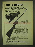 1974 Charter Arms AR-7 Explorer Rifle Ad