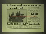 1922 Landis 4-A Special Grinding Machine Ad