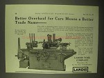 1922 Landis 4-A Special Grinding Machine Ad - Better