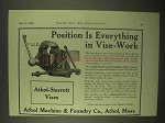 1922 Athol-Starrett Vises Ad - Position is Everything