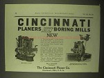1922 Cincinnati Planers and Boring Mills Ad