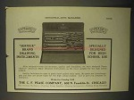 1922 C.F. Pease Service Brand Drawing Instruments Ad