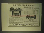 1922 South Bend Quick Change Gear Lathe Ad