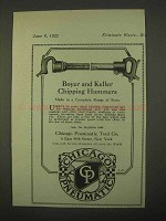 1922 Chicago Pneumatic Boyer Keller Chipping Hammers Ad