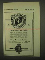 1922 Chicago Pneumatic Little Giant Air Drills Ad