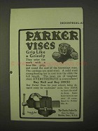 1922 Parker Vises Ad - Grip Like a Grizzly