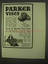 1922 Parker Vises Ad - Faces of Special Tool Steel