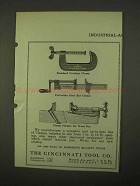 1922 Cincinnati Tool Clamp Ad - Standard Carriage, Bar