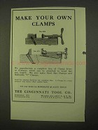 1922 Cincinnati Tool No. 623, No. 615 Clamp Fixtures Ad