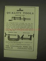 1922 Cincinnati Tool Ad - Carriage Clamp, Quick Clamp