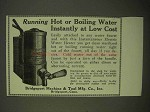 1922 Bridgeport Instantaneous Electric Water Heater Ad