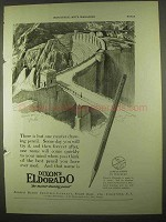 1922 Dixon's Eldorado Pencil Ad - There is But One