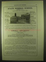 1922 State Normal School & Cornell University Ad