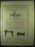 1922 Monarch Lathe and Quick Change Gear Lathe Ad