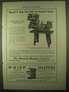 1922 Monarch Junior Motor Drive Lathe Ad - Vocational