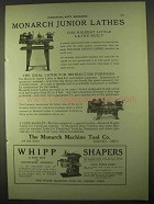1922 Monarch Junior Lathe Ad - Biggest Little Lathe