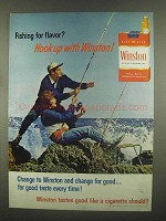 1965 Winston Cigarettes Ad - Fishing for Flavor?