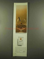 1965 Edgeworth John Rolfe Peach Brandy Tobacco Ad