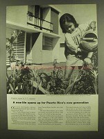 1965 Puerto Rico Development Ad - A New Life Opens Up