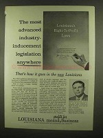 1965 Louisiana Department of Commerce and Industry Ad