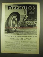 1965 Firestone Nylon 500 Tires Ad - Out of Racing