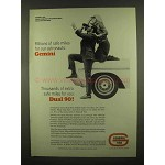 1965 General Tire Dual 90 Tires Ad - Astronauts Gemini