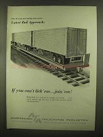 1965 American Trucking Industry ATA Ad - Rail Approach