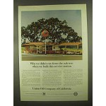 1965 Union 76 Oil Ad - We Didn't Cut Down the Oak Tree