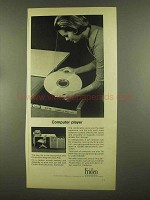 1965 Friden 6018 Magnetic Disc File Ad, Computer Player