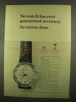 1965 Bulova Accutron Model 214 Watch Ad - Accuracy