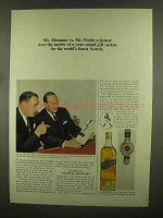 1965 Johnnie Walker Black Label Scotch Ad - A Debate