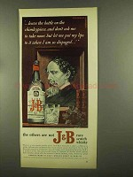 1965 J&B Scotch Ad - Leave on The Chimleypiece