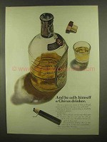 1965 Chivas Regal Scotch Ad - Calls Himself a Drinker